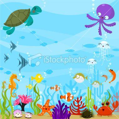 Scenery clipart ocean theme #5