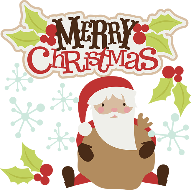 Owl clipart merry christmas Scrapbook santa cute santa Merry