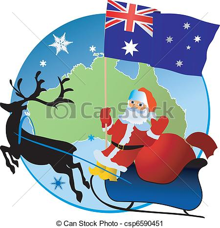 Merry Christmas clipart australian  Merry Clip Christmas! Art