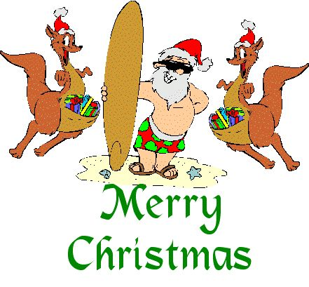 Merry Christmas clipart australian Pinterest style best Christmas Santa