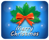 Merry Christmas clipart clip With clipart blue blue Search