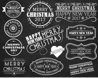 Merry Christmas clipart chalkboard Invitations Merry Merry Christmas christmas