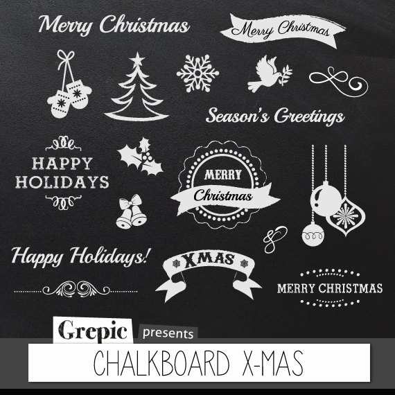 Merry Christmas clipart chalkboard With X Chalkboard greetings MAS