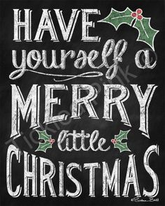 Merry Christmas clipart chalkboard Chalkboard Have {Tutorial Little Happy