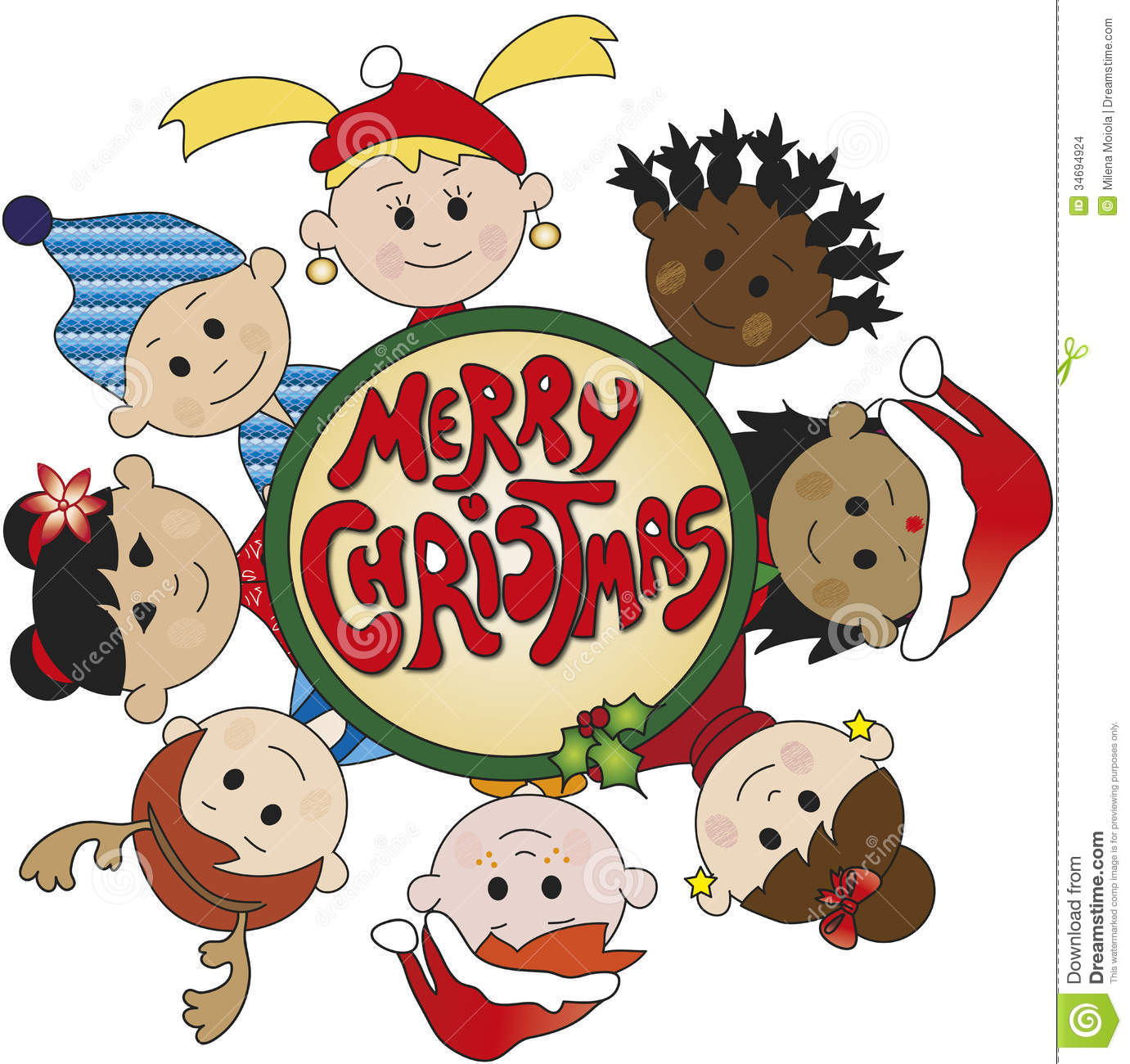Merry Christmas clipart child Free Collection Illustration With clip