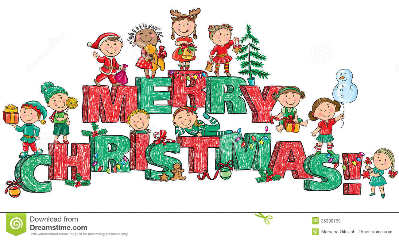 Merry Christmas clipart child Christmas Collection kids Christmas Clipart
