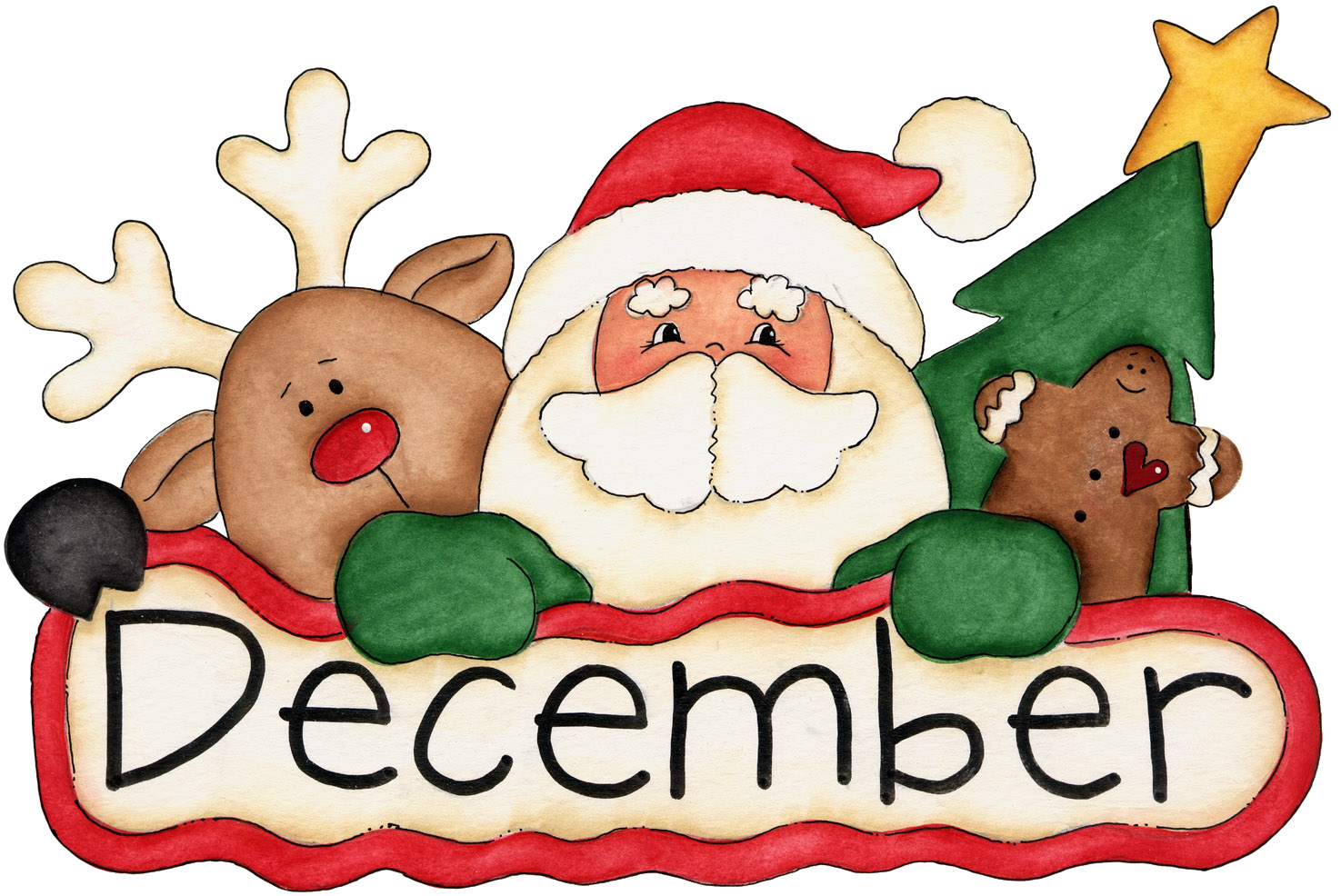 Holydays clipart december holiday Months and · 12 12