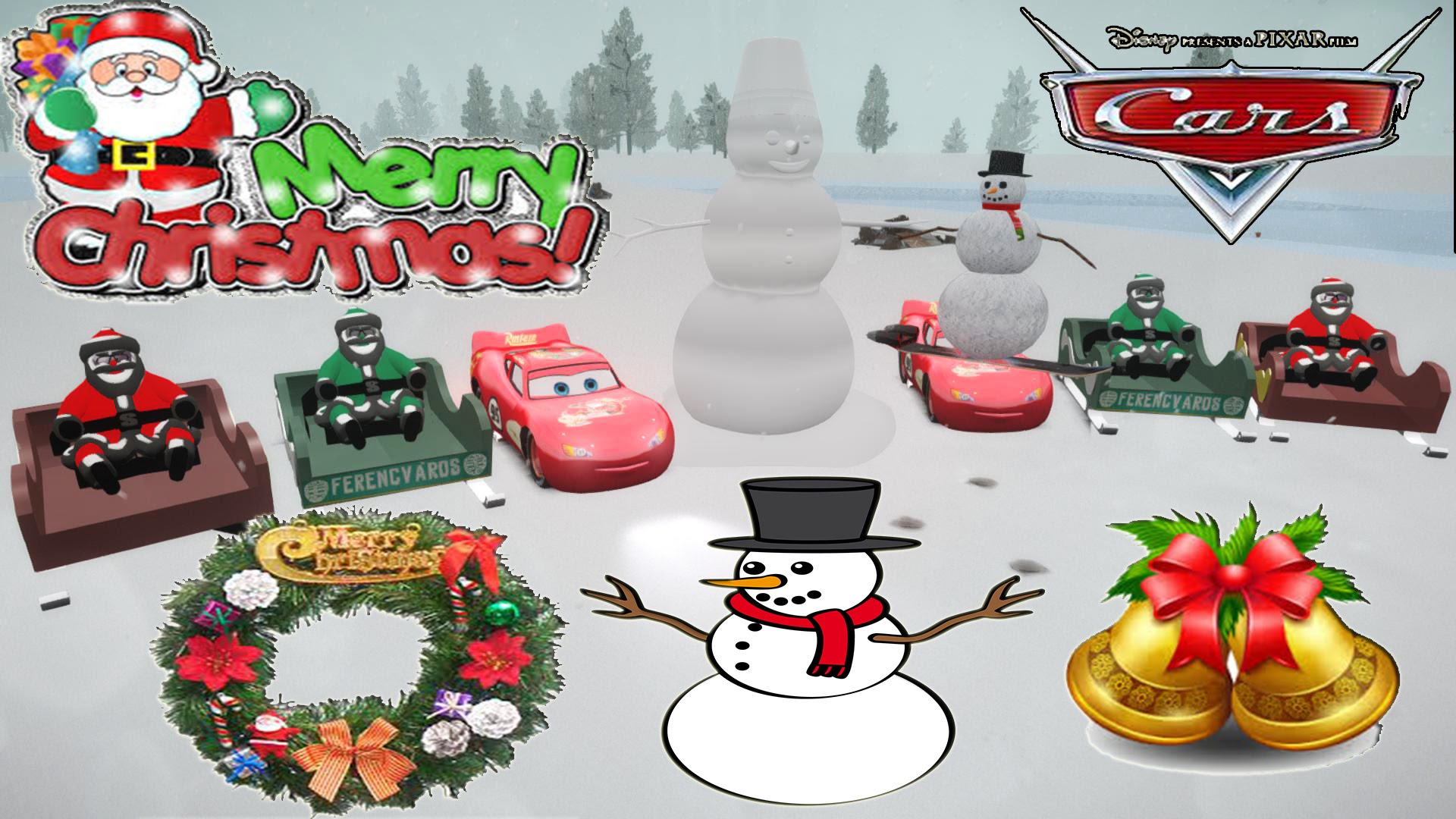 Merry Christmas clipart disney cars And Snowman Fun Disney Santa