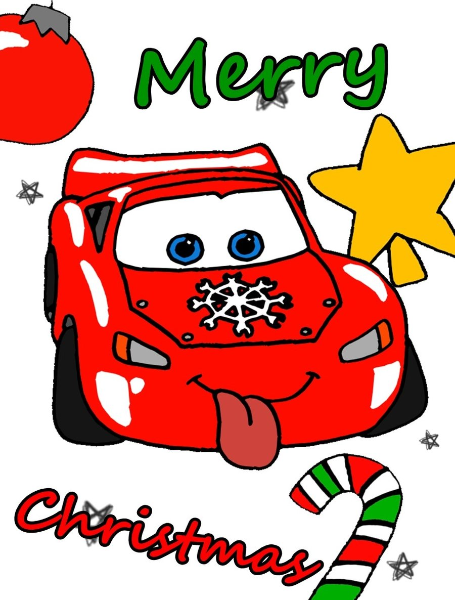 Merry Christmas clipart disney cars Merry Christmas by by RexiDoodle