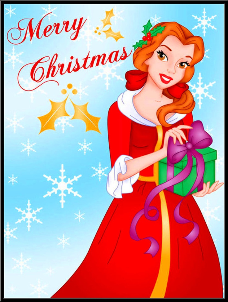Merry Christmas clipart disney princess Christmas images Pinterest ❤ 261