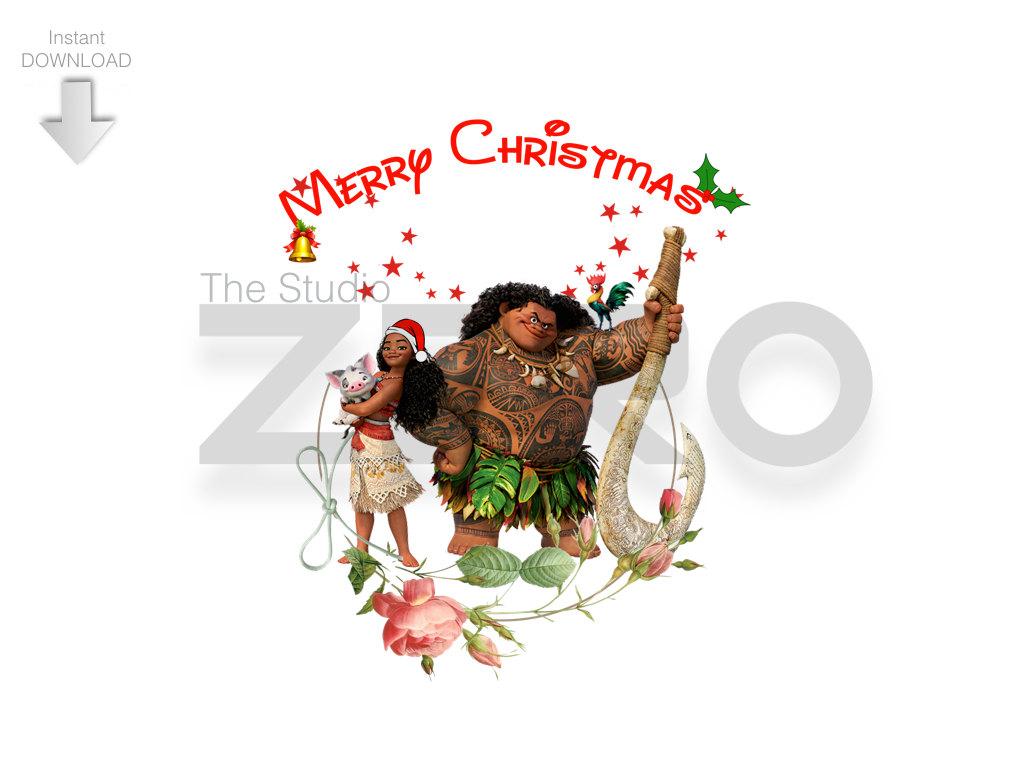 Merry Christmas clipart disney princess Digital Princess Disney Clipart Moana