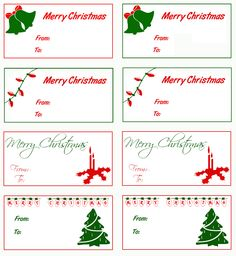 Merry Christmas clipart gift tag Clipart tag Collection Christmas Christmas
