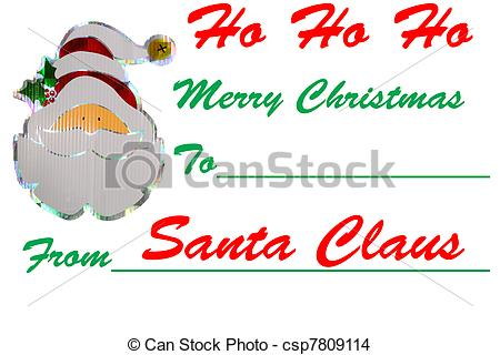 Merry Christmas clipart gift tag A tag  Christmas tag