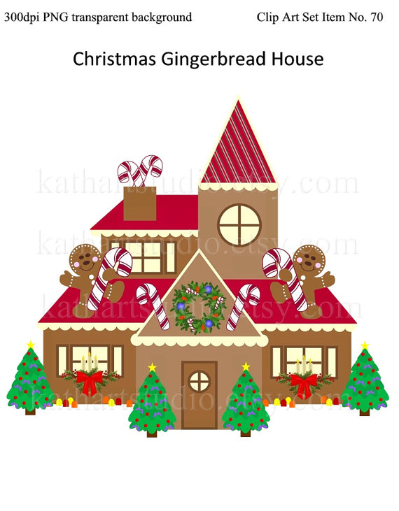 Gingerbread clipart santa claus house GET Christmas Gingerbread FREE Instant