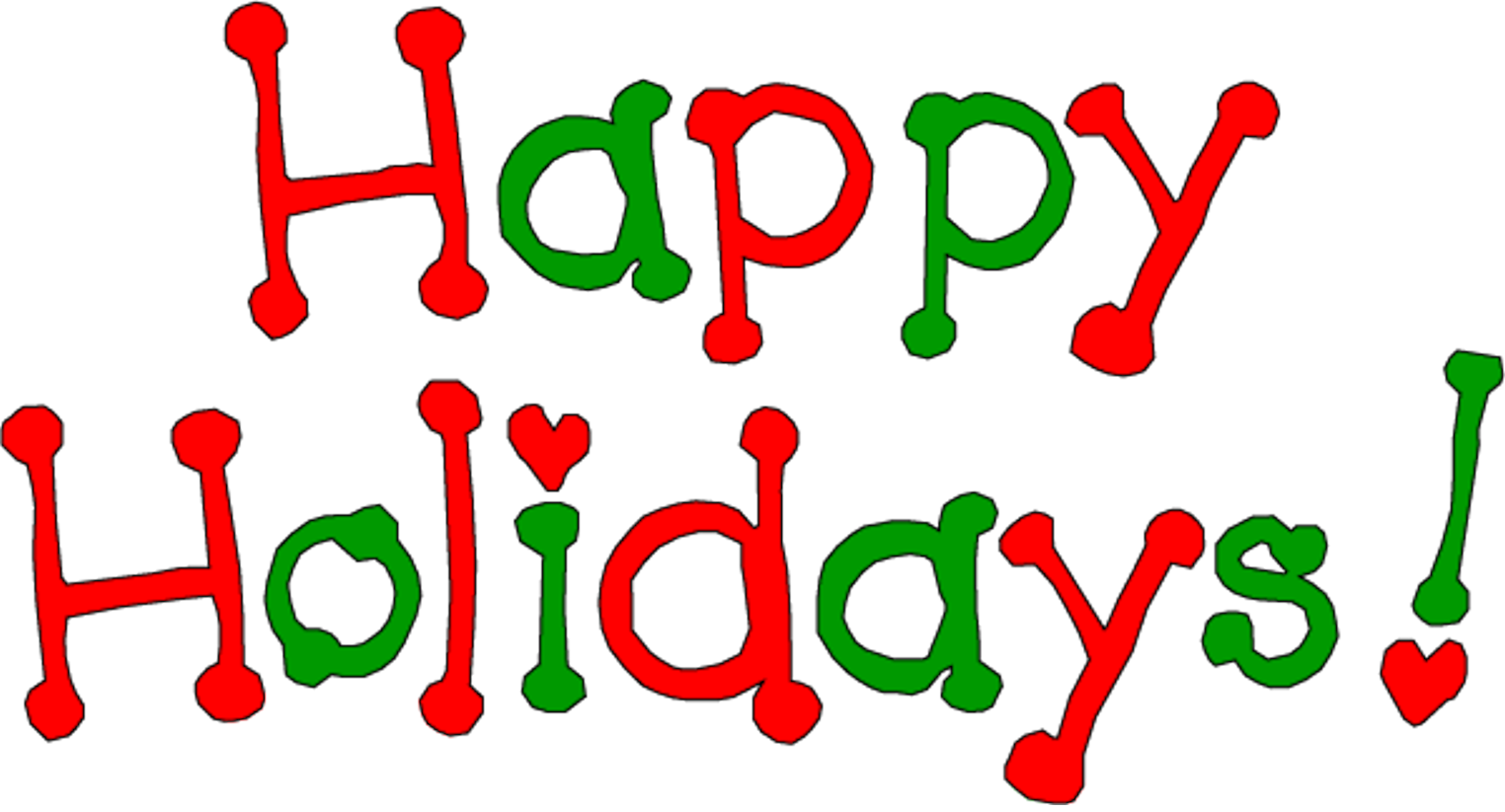 Word clipart happy holiday Clipart & The  &