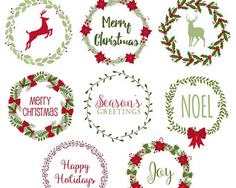 Merry Christmas clipart holiday garland Christmas wreath Christmas OFF Wreath