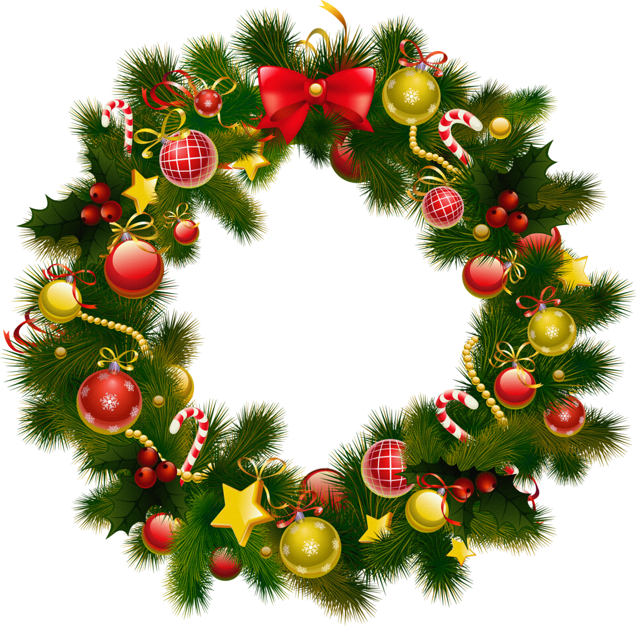 Merry Christmas clipart holiday garland Garland Free Clipart Christmas Images