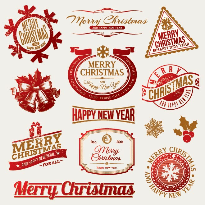 Merry Christmas clipart label Emblem Christmas  Labels Christmas