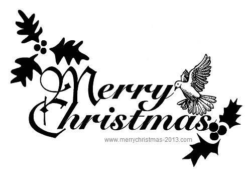 Merry Christmas clipart logo Christmas Black Clipart Free Panda