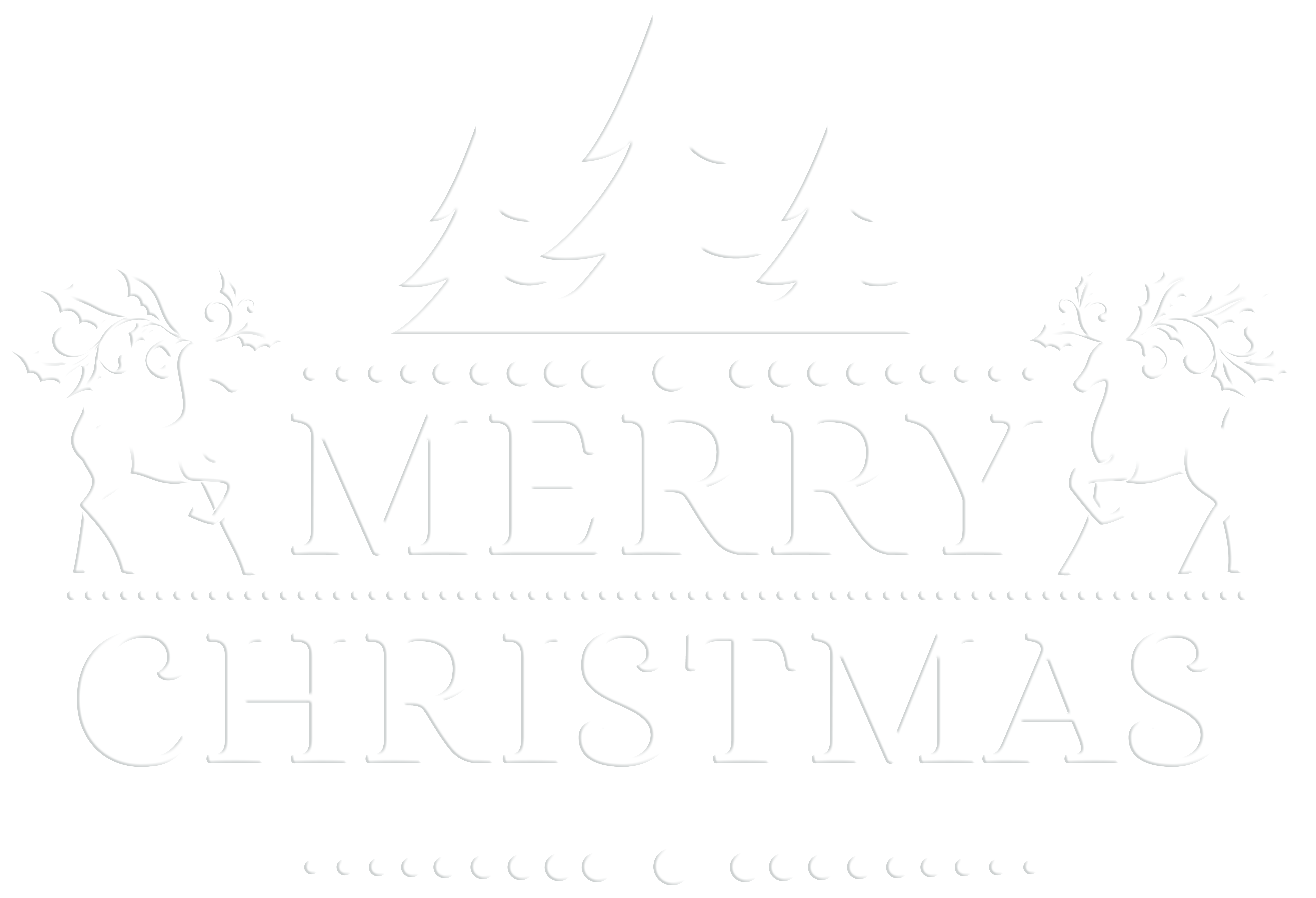 Merry Christmas clipart logo White PNG Gallery  size