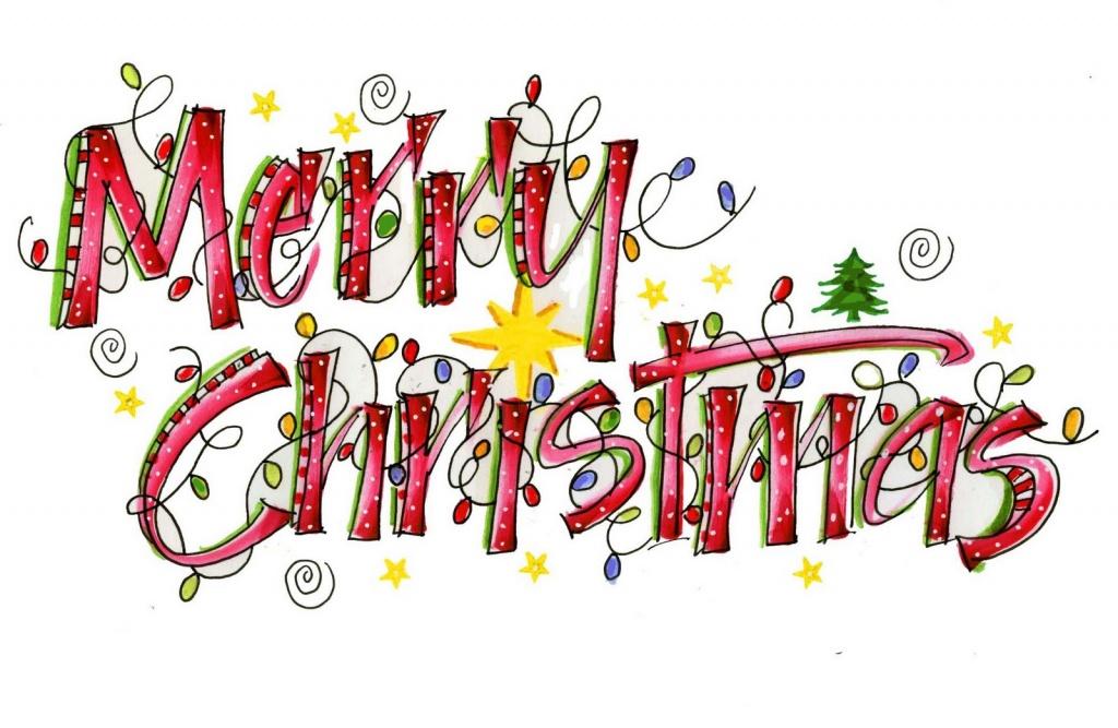 Merry Christmas clipart logo Vector photo Christmas Library