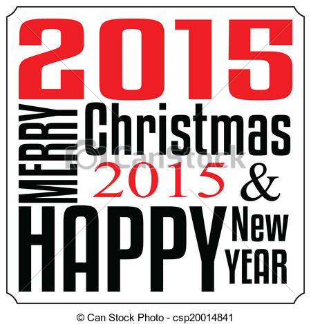 Merry Christmas clipart logo Year Typography year csp20014841 Vector