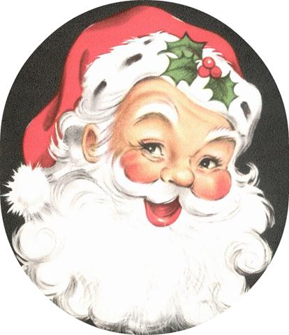 Santa clipart old fashioned #4