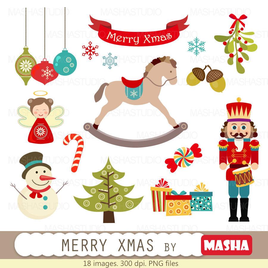 Merry Christmas clipart ornament Clip Christmas clipart: nutcracker Studio