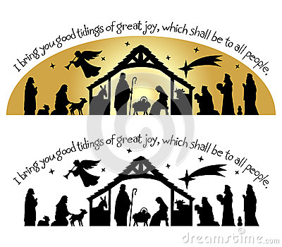 Merry Christmas clipart silhouette Spiritual Free collection clipart Silhouette/eps
