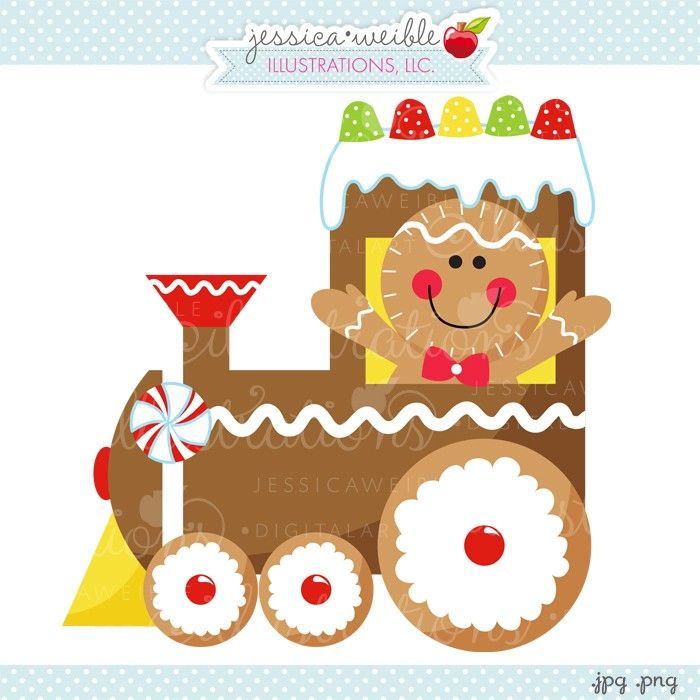 Merry Christmas clipart train Gingerbread noel Best Clipart Illustrations