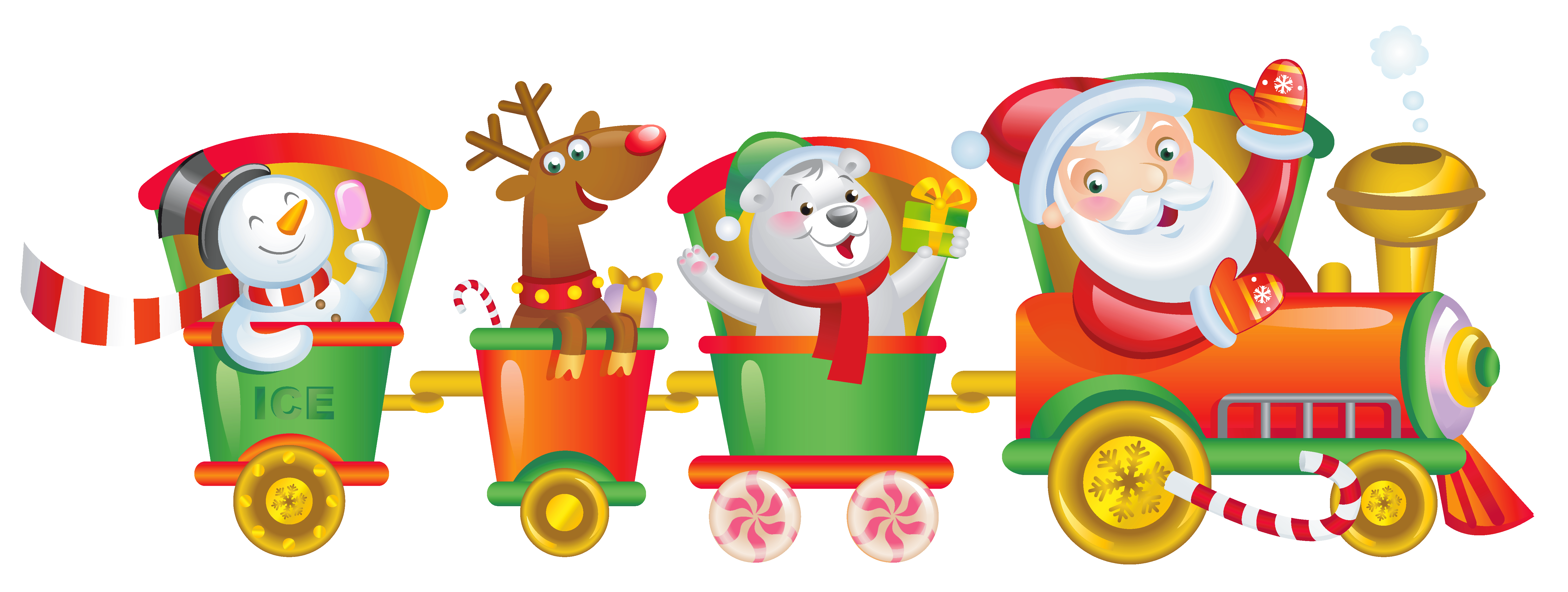 Merry Christmas clipart train Art Merry Free Christmas Images