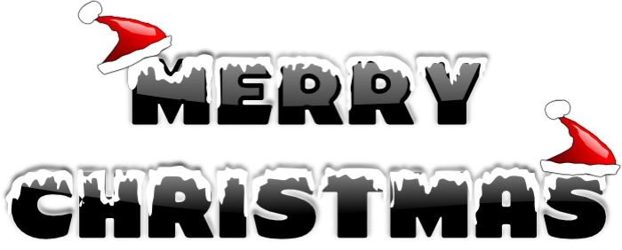 Merry Christmas clipart vector Image with Clipart The versatile