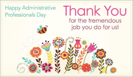 Message clipart administrative Day You Greeting Professionals Thank