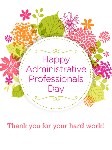 Message clipart administrative Day Happy Administrative  Professionals