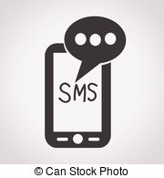 Message clipart black and white Sms Mobile sms mail mail