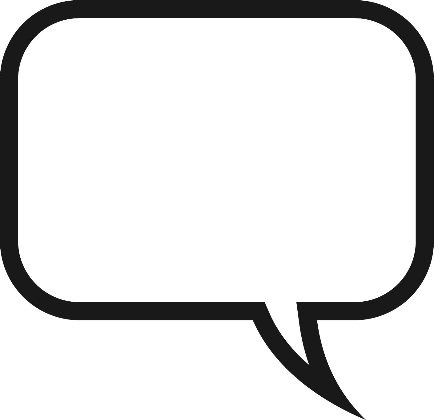Square clipart speech bubble Comment Bubble01 Clip Art Thought