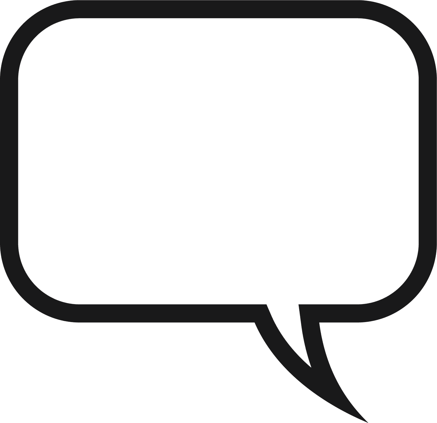 Saying clipart speech bubble #1
