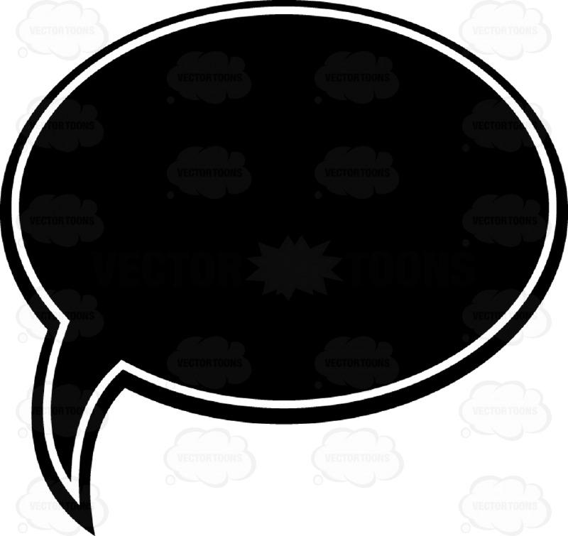 Message clipart bubble speech Cartoon Black  Bubble White