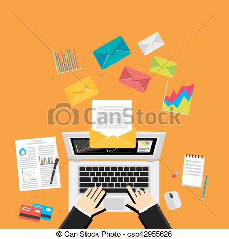 Message clipart computer email Of  Email Business Send