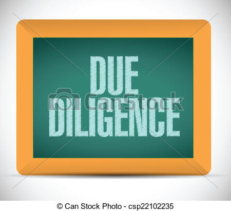 Message clipart due Over diligence a illustration