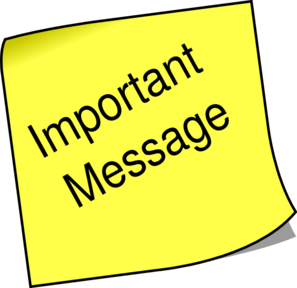 Message clipart due Due to my to Band