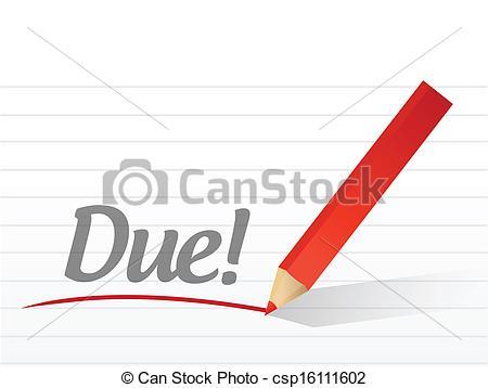 Message clipart due Background written  a paper