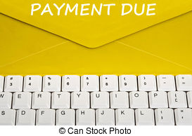 Message clipart due  PDN Due Notice Picture