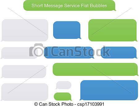 Bubble clipart text message Flat Vectors Short Flat Service