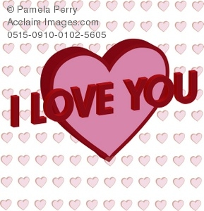 Message clipart i love you Art a Illustration 3D Message