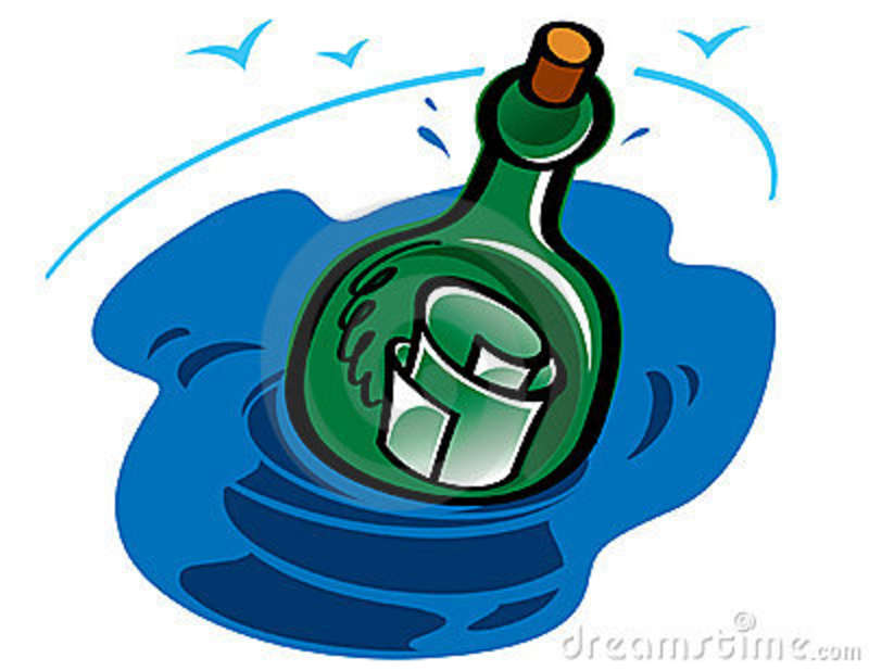 Message clipart ina bottle Art Message Bottle in Message