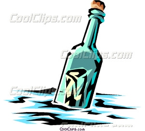 Message clipart ina bottle In a bottle bottle Message
