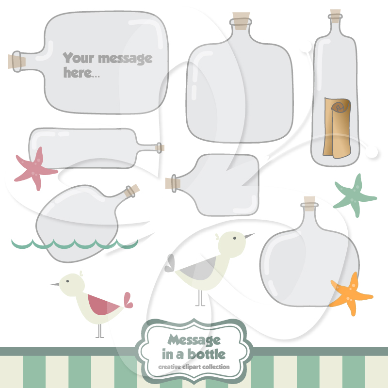 Message clipart ina bottle Message in Bottle a Message
