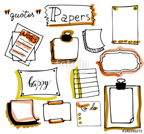 Message clipart office supply Isolated hand of notepaper Office