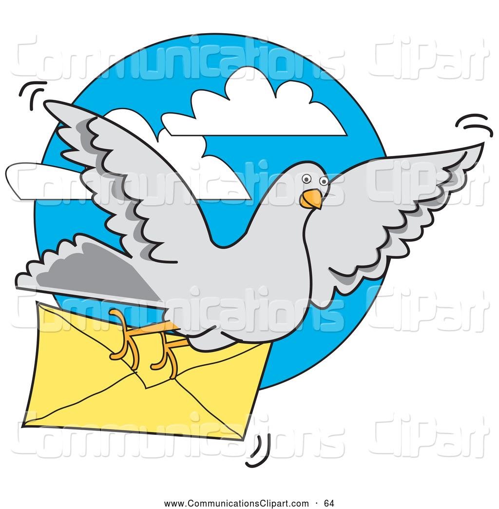 Pidgeons clipart letter Pigeon in a Message Designs